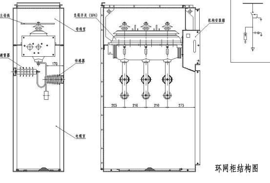 高压环网开关柜结构特点的简述 图片1