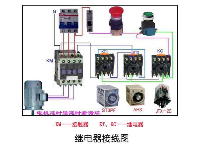 附:继电器接线图